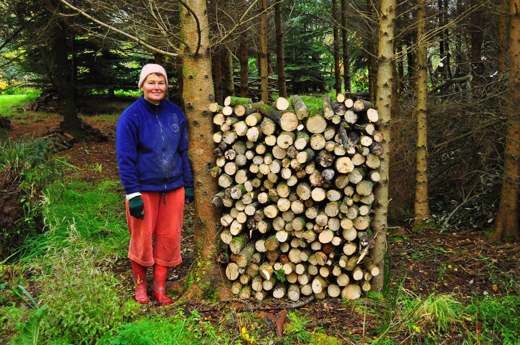 Snezana doing her bit for the ecology  ! Nov 2011