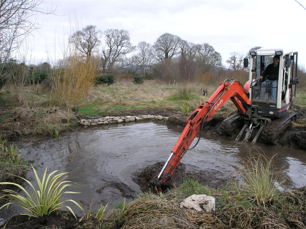 Widening the stream into a pool March 2006